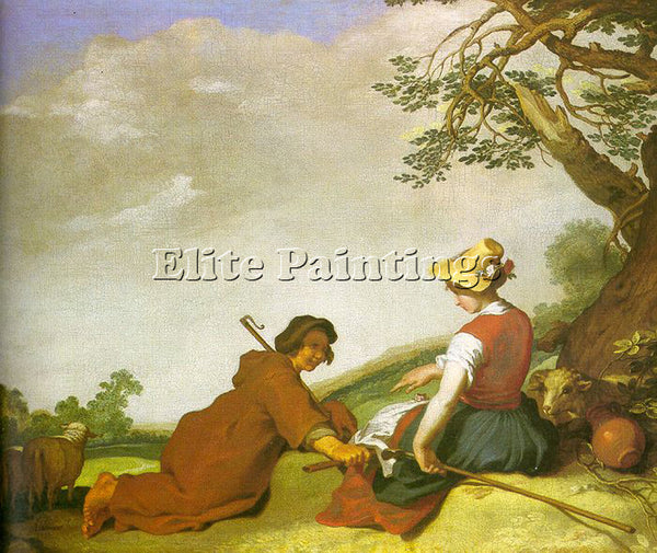 ABRAHAM BLOEMAERT SHEPHERD AND SHEPHERDESS ARTIST PAINTING REPRODUCTION HANDMADE