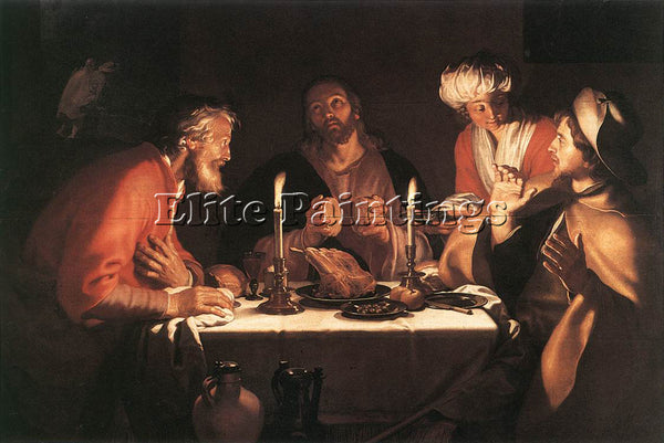 ABRAHAM BLOEMAERT THE EMMAUS DISCIPLES ARTIST PAINTING REPRODUCTION HANDMADE OIL