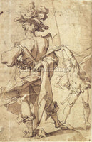 ABRAHAM BLOEMAERT WARRIOR AND YOUNG STANDARD BEARER ARTIST PAINTING REPRODUCTION