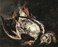 BELGIAN BOEL PIETER STILL LIFE WITH DEAD WILD DUCK ARTIST PAINTING REPRODUCTION