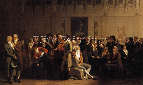 BRITISH BOILLY LOUIS LEOPOLD MEETING OF ARTISTS IN ISABEYS STUDIO ARTIST CANVAS