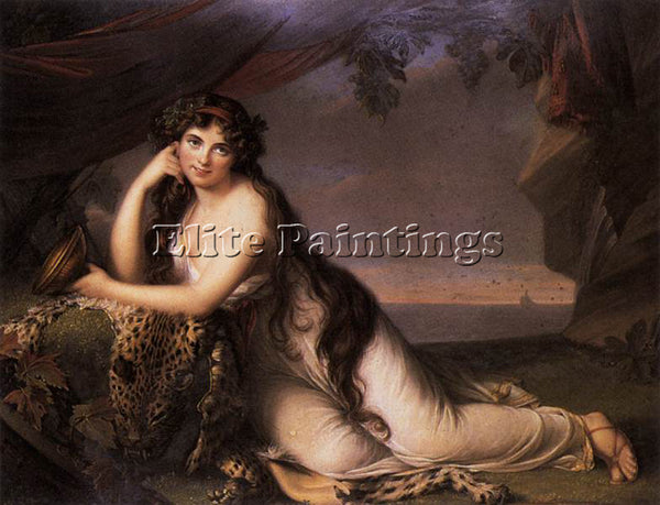 BRITISH BONE HENRY LADY HAMILTON AS A BACCHANTE ARTIST PAINTING REPRODUCTION OIL