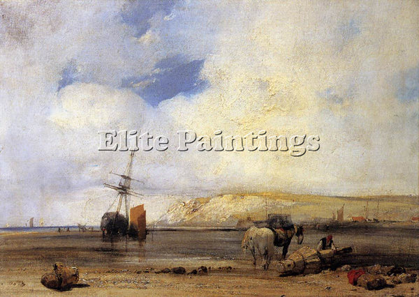 RICHARD PARKES BONINGTON PARKES ON THE COAST OF PICARDY ARTIST PAINTING HANDMADE