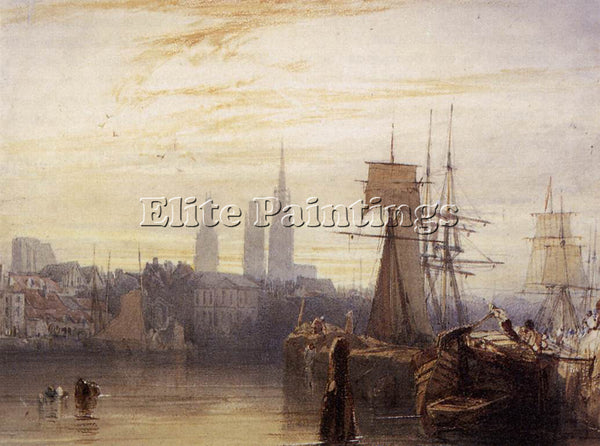 RICHARD PARKES BONINGTON PARKES ROUEN ARTIST PAINTING REPRODUCTION HANDMADE OIL