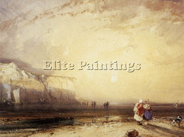 RICHARD PARKES BONINGTON PARKES SUNSET IN THE PAYS DE CAUX ARTIST PAINTING REPRO
