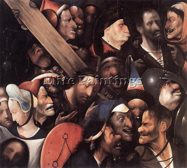 HIERONYMUS BOSCH CHRIST CARRYING THE CROSS ARTIST PAINTING REPRODUCTION HANDMADE