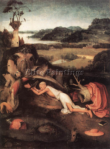 HIERONYMUS BOSCH ST JEROME IN PRAYER ARTIST PAINTING REPRODUCTION HANDMADE OIL