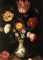 DENMARK BOSSCHAERT AMBROSIUS THE ELDER FLOWER PIECE ARTIST PAINTING REPRODUCTION
