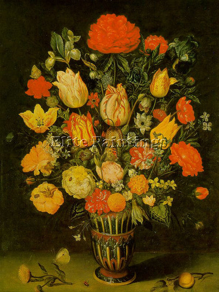DENMARK BOSSCHAERT AMBROSIUS THE ELDER STILL LIFE OF FLOWERS ARTIST PAINTING OIL