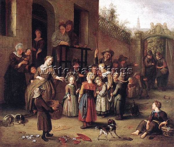 DENMARK BRAKENBURG RICHARD MAY QUEEN FESTIVAL ARTIST PAINTING REPRODUCTION OIL