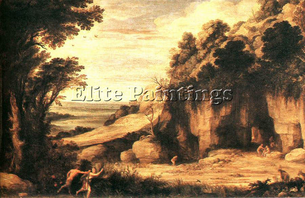 BELGIAN BRIL PAUL PAN AND SYRINX ARTIST PAINTING REPRODUCTION HANDMADE OIL REPRO