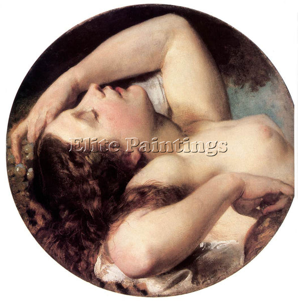 HUNGARIAN BROCKY KAROLY SLEEPING BACCHANTE ARTIST PAINTING REPRODUCTION HANDMADE