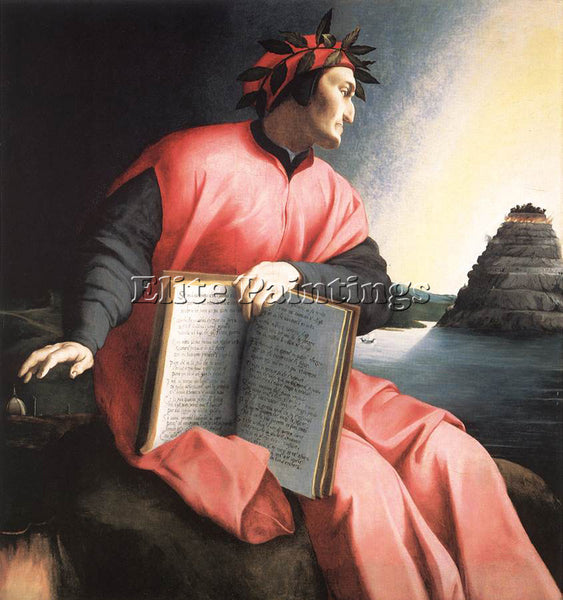 AGNOLO BRONZINO ALLEGORICAL PORTRAIT DANTE ARTIST PAINTING REPRODUCTION HANDMADE