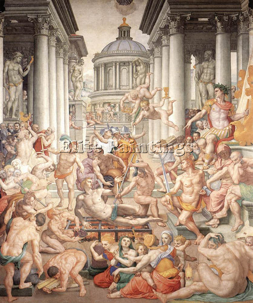 AGNOLO BRONZINO MARTYRDOM OF ST LAWRENCE ARTIST PAINTING REPRODUCTION HANDMADE