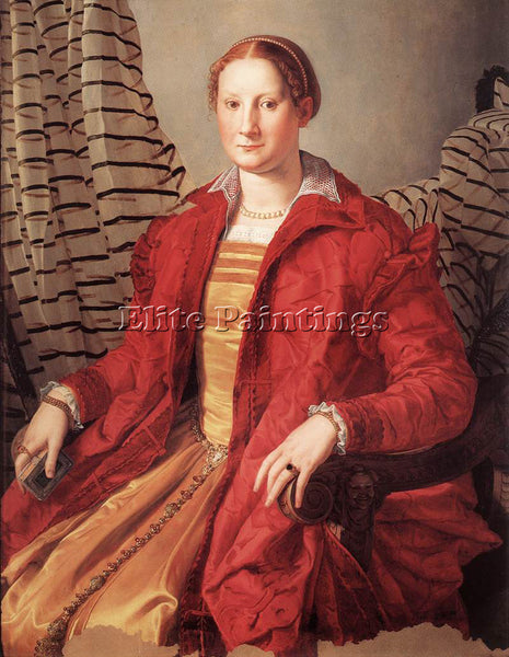 AGNOLO BRONZINO PORTRAIT OF A LADY ARTIST PAINTING REPRODUCTION HANDMADE OIL ART