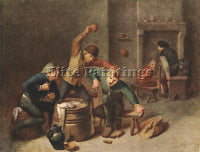 ADRIAEN BROUWER BRAWLING PEASANTS ARTIST PAINTING REPRODUCTION HANDMADE OIL DECO