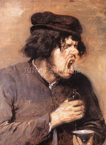 ADRIAEN BROUWER THE BITTER DRAUGHT ARTIST PAINTING REPRODUCTION HANDMADE OIL ART