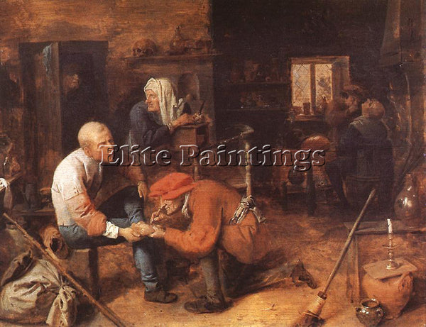 ADRIAEN BROUWER THE OPERATION ARTIST PAINTING REPRODUCTION HANDMADE CANVAS REPRO