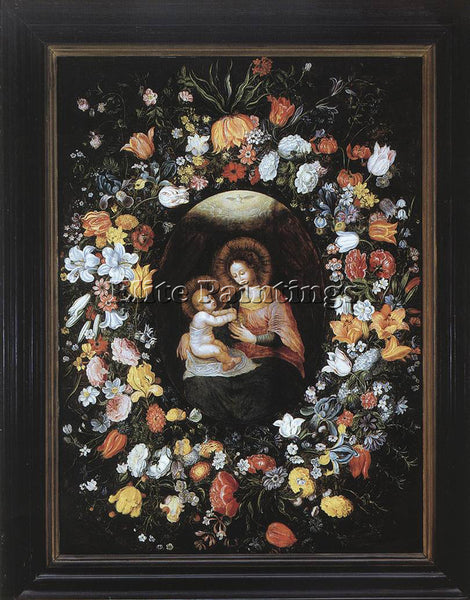 HOLLAND BRUEGHEL AMBROSIUS HOLY VIRGIN AND CHILD ARTIST PAINTING HANDMADE CANVAS
