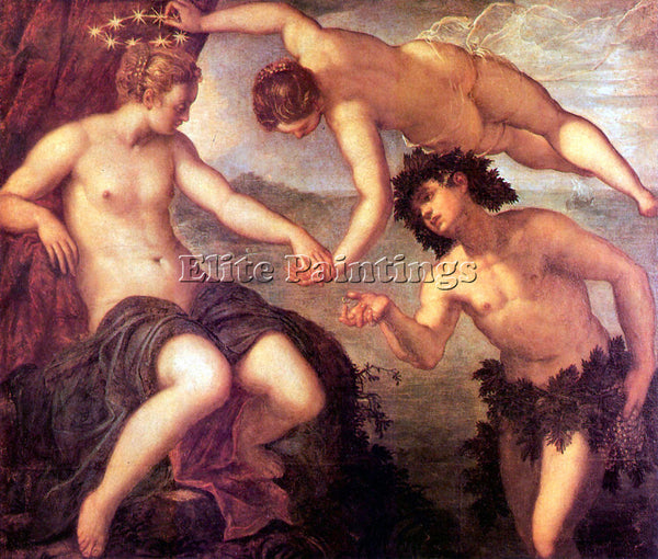 TINTORETTO BACCHUS AND ARIADNE ARTIST PAINTING REPRODUCTION HANDMADE OIL CANVAS