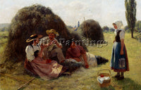 DENMARK BACHMAN HANS AFTERNOON REST ARTIST PAINTING REPRODUCTION HANDMADE OIL