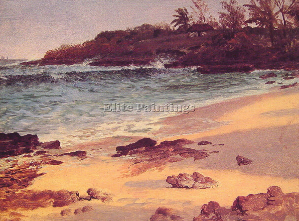 ALBERT BIERSTADT BAHAMA COVE ARTIST PAINTING REPRODUCTION HANDMADE CANVAS REPRO