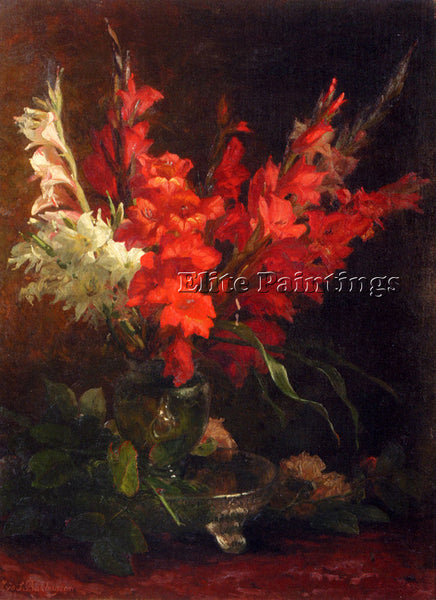 BAKHUYZEN GERALDINE JACOBA VAN DE STILL LIFE WITH GLADIOLI AND ROSES OIL CANVAS