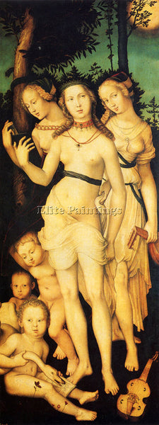 HANS BALDUNG GRIEN HARMONY OF THE THREE GRACES ARTIST PAINTING REPRODUCTION OIL