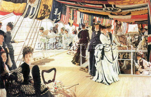 TISSOT BALL ON BOARD ARTIST PAINTING REPRODUCTION HANDMADE OIL CANVAS REPRO WALL