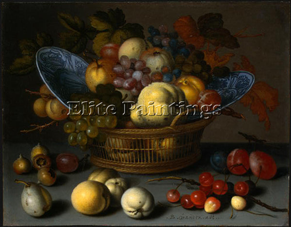 CZECH BALTHASAR VAN DER AST BASKET FRUITS 1622 ARTIST PAINTING REPRODUCTION OIL
