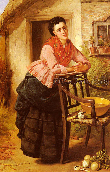 AMERICAN BARNES EDWARD CHARLES A REST FROM LABOUR ARTIST PAINTING REPRODUCTION - Oil Paintings Gallery Repro