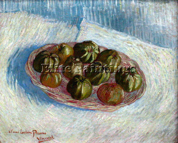 VAN GOGH BASKET OF APPLES 2 ARTIST PAINTING REPRODUCTION HANDMADE OIL CANVAS ART