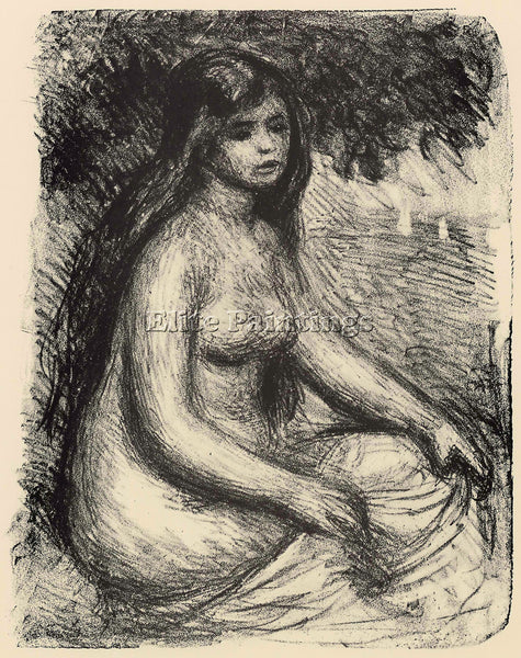 RENOIR BATHER 3 ARTIST PAINTING REPRODUCTION HANDMADE CANVAS REPRO WALL  DECO