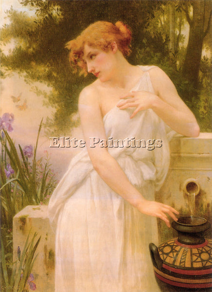GUILLAUME SEIGNAC BEAUTY AT THE WELL 1 ARTIST PAINTING REPRODUCTION HANDMADE OIL