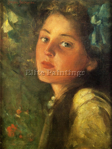 JAMES CARROLL BECKWITH A WISTFUL LOOK ARTIST PAINTING REPRODUCTION HANDMADE OIL