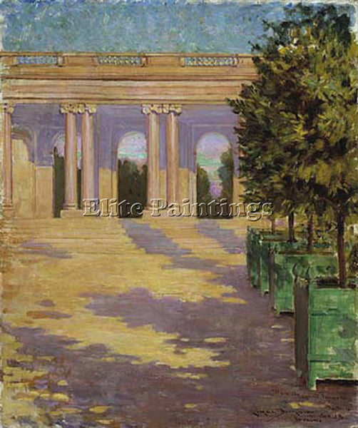 JAMES CARROLL BECKWITH ARCADE OF THE GRAND TRIANON VERSAILLES PAINTING HANDMADE