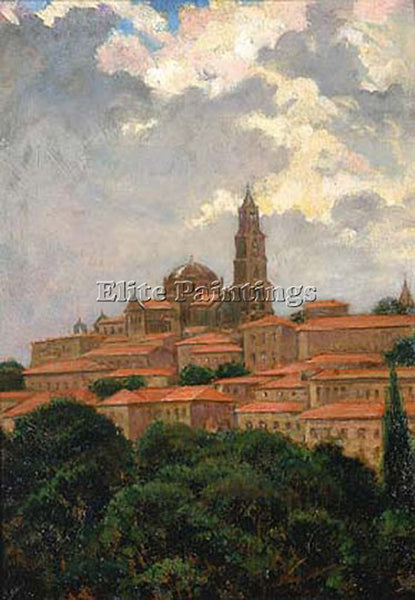 JAMES CARROLL BECKWITH CATHEDRAL AT LE PUY ARTIST PAINTING REPRODUCTION HANDMADE
