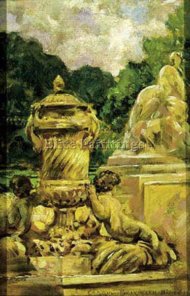 JAMES CARROLL BECKWITH JARDIN DE LA FONTAINE AA NIMES FRANCE ARTIST PAINTING OIL