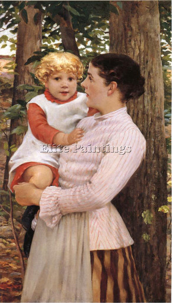 JAMES CARROLL BECKWITH MOTHER AND CHILD ARTIST PAINTING REPRODUCTION HANDMADE