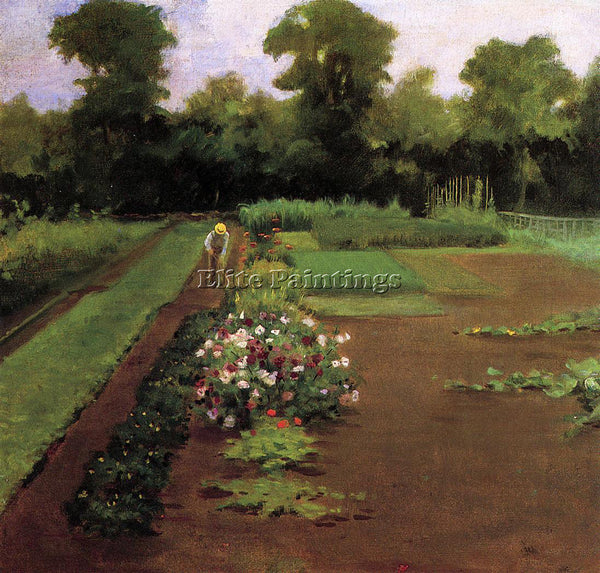JAMES CARROLL BECKWITH NEW HAMBURG GARDEN ARTIST PAINTING REPRODUCTION HANDMADE