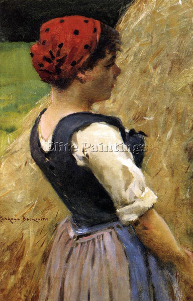 JAMES CARROLL BECKWITH NORMANDY GIRL ARTIST PAINTING REPRODUCTION HANDMADE OIL