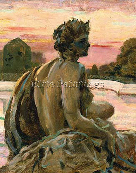 JAMES CARROLL BECKWITH ONE OF THE FIGURES AT THE PARTERRE D EAU ARTIST PAINTING