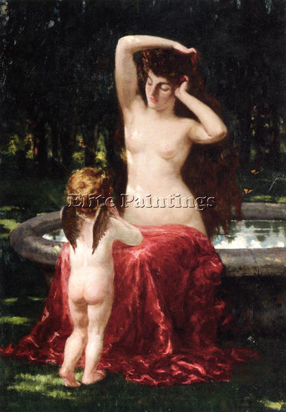 JAMES CARROLL BECKWITH SYLVAN TOILETTE ARTIST PAINTING REPRODUCTION HANDMADE OIL