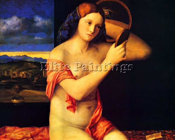 GIOVANNI BELLINI LADY AT HER TOILETTE ARTIST PAINTING REPRODUCTION HANDMADE OIL