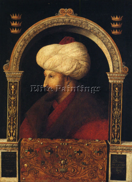 GIOVANNI BELLINI PORTRAIT OF MEHMER II ARTIST PAINTING REPRODUCTION HANDMADE OIL