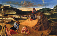 GIOVANNI BELLINI THE AGONY IN THE GARDEN ARTIST PAINTING REPRODUCTION HANDMADE