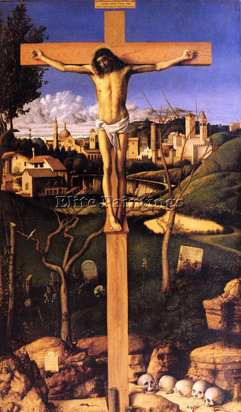 GIOVANNI BELLINI THE CRUCIFIXION ARTIST PAINTING REPRODUCTION HANDMADE OIL REPRO