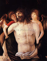 GIOVANNI BELLINI THE DEAD CHRIST SUPPORTED BY TWO ANGELS ARTIST PAINTING CANVAS