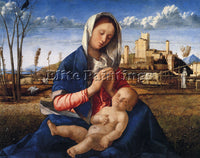 GIOVANNI BELLINI THE VIRGIN AND CHILD ARTIST PAINTING REPRODUCTION HANDMADE OIL