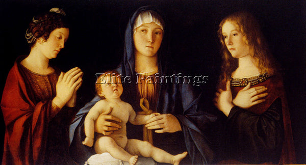 GIOVANNI BELLINI VIRGIN AND CHILD BETWWN ST CATHERINE AND ST MARY ARTIST CANVAS